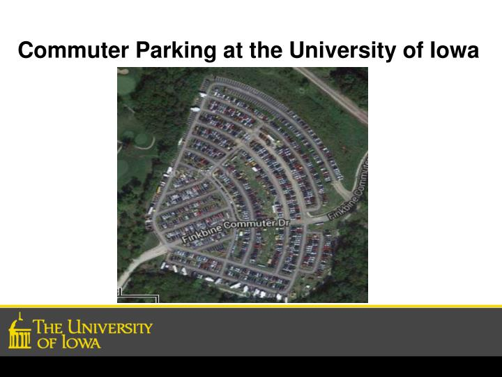Commuter Parking at the University of Iowa