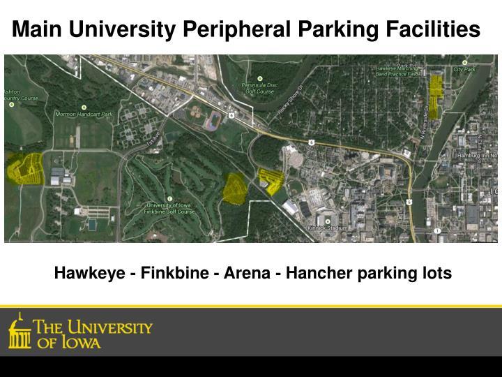 Main University Peripheral Parking Facilities