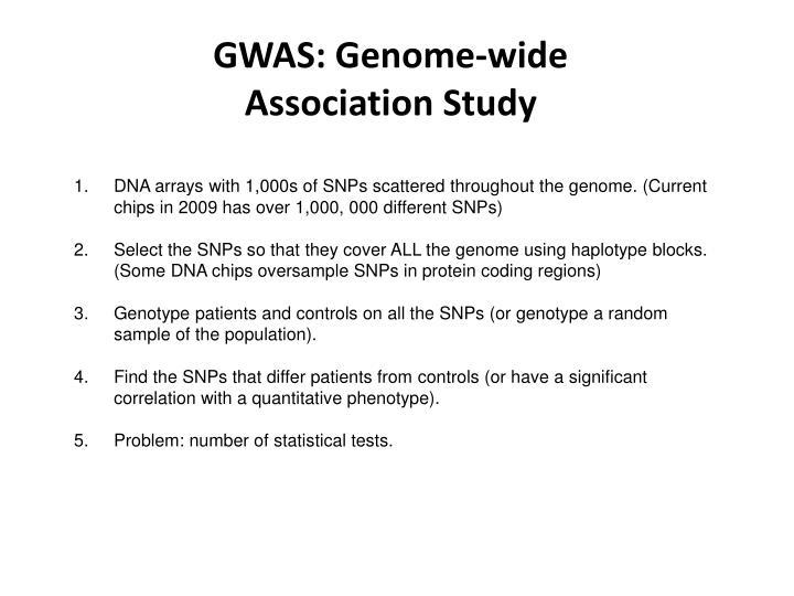 GWAS: Genome-wide