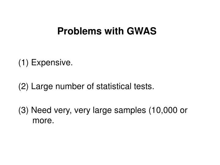 Problems with GWAS