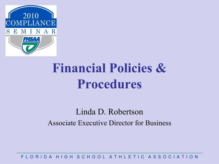 effective financial policies and proced