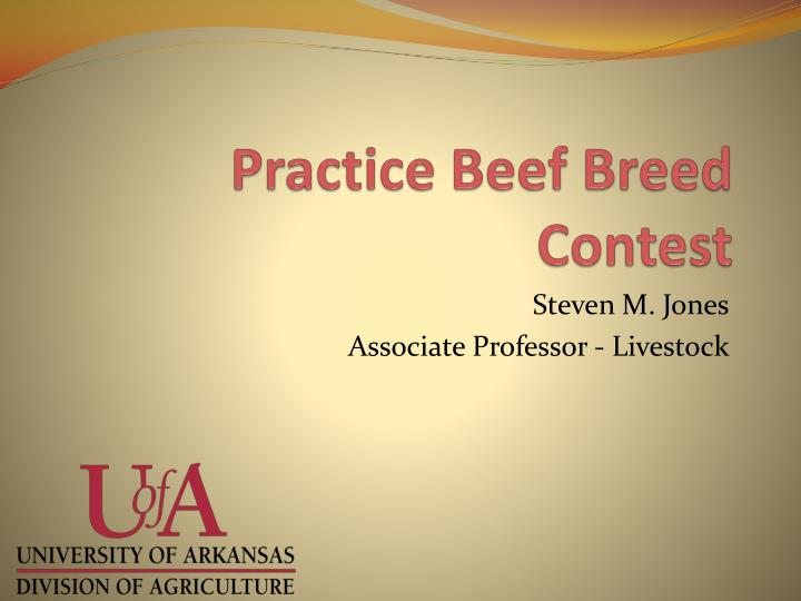 practice beef breed contest n.