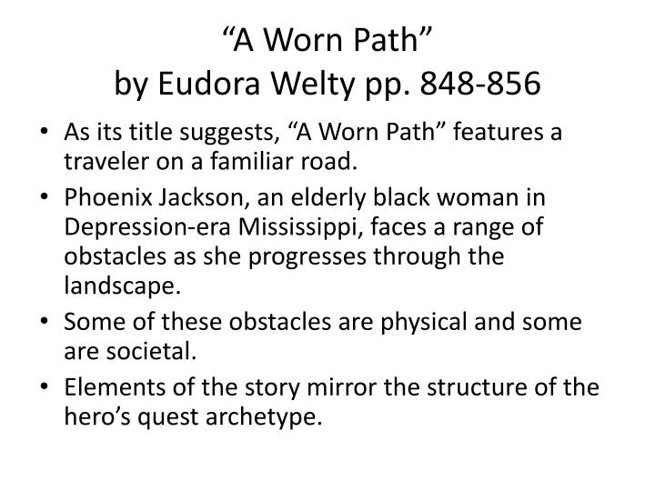 phoenix rise from the ashes in eudora weltys a worn path