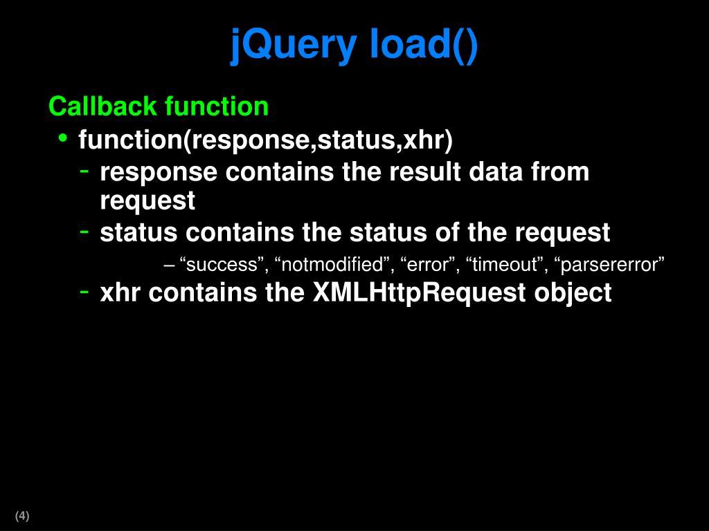PPT - jQuery AJAX PowerPoint Presentation - ID:2415228
