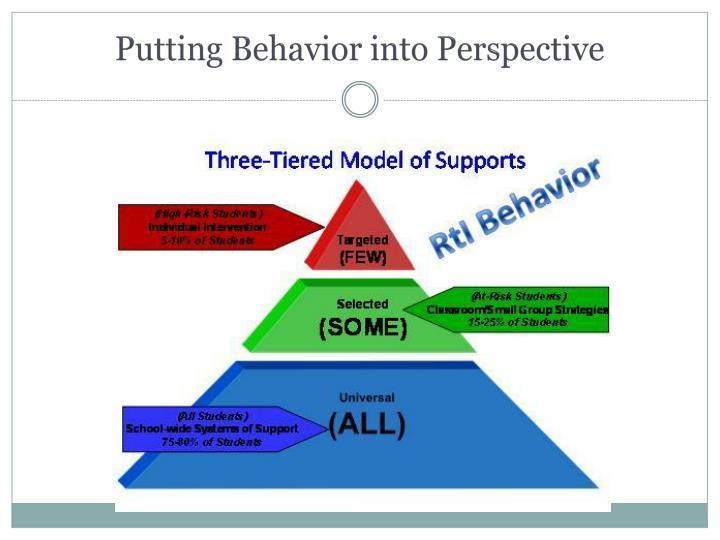 Putting behavior into perspective
