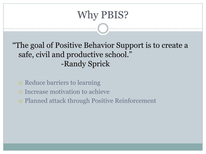 Why pbis