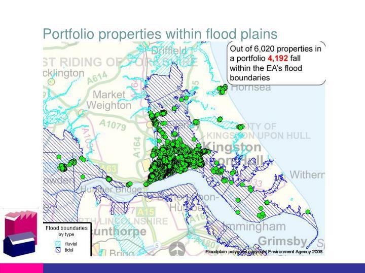 Portfolio properties within flood plains