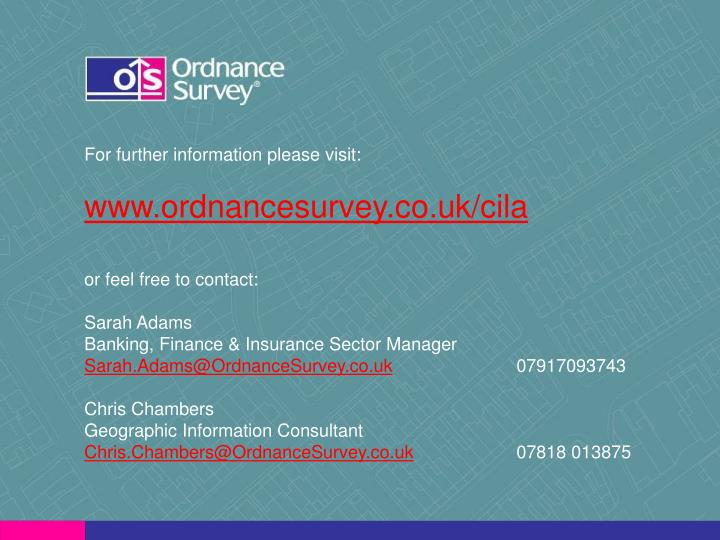 For further information please visit: