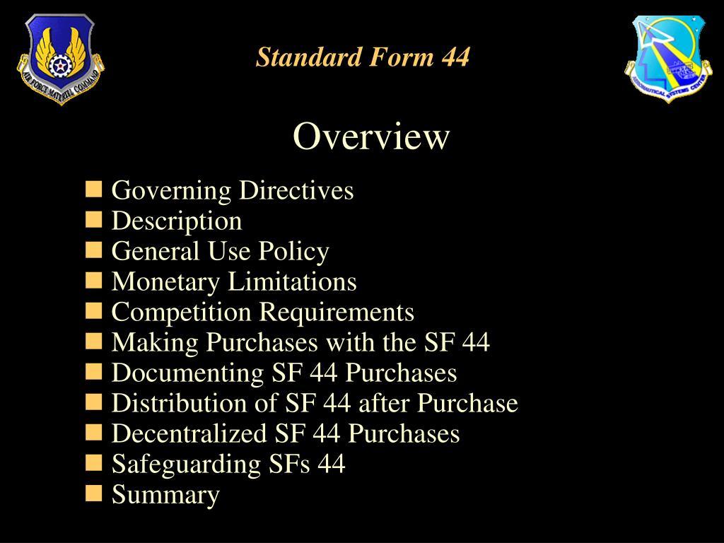 standard form 44  PPT - Standard Form 8 PowerPoint Presentation - ID:8