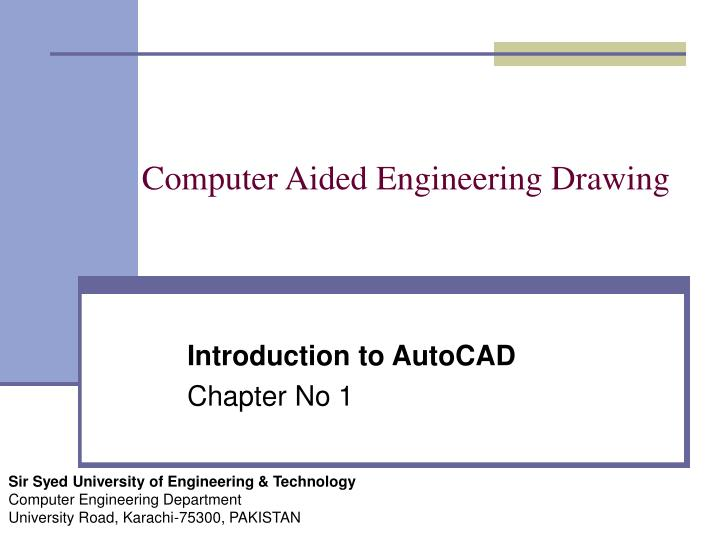 PPT - Computer Aided Engineering Drawing PowerPoint