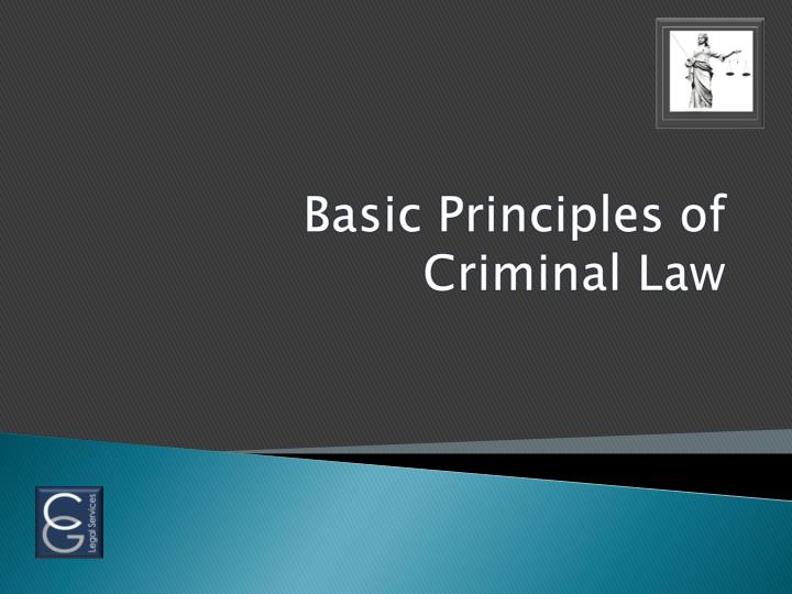 basic principles of criminal law n.