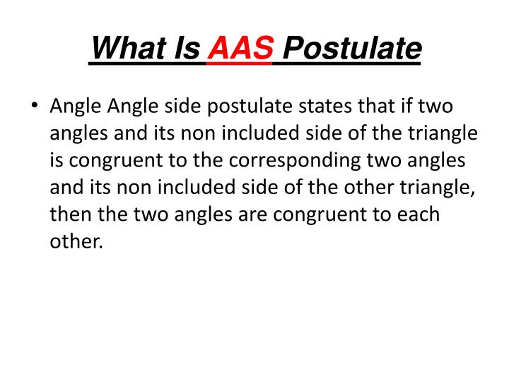 What is aas postulate