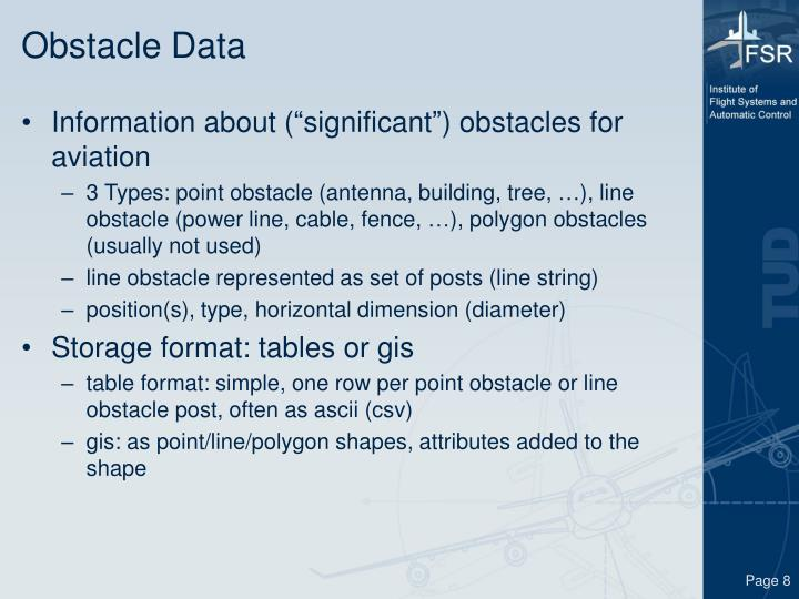 Obstacle Data