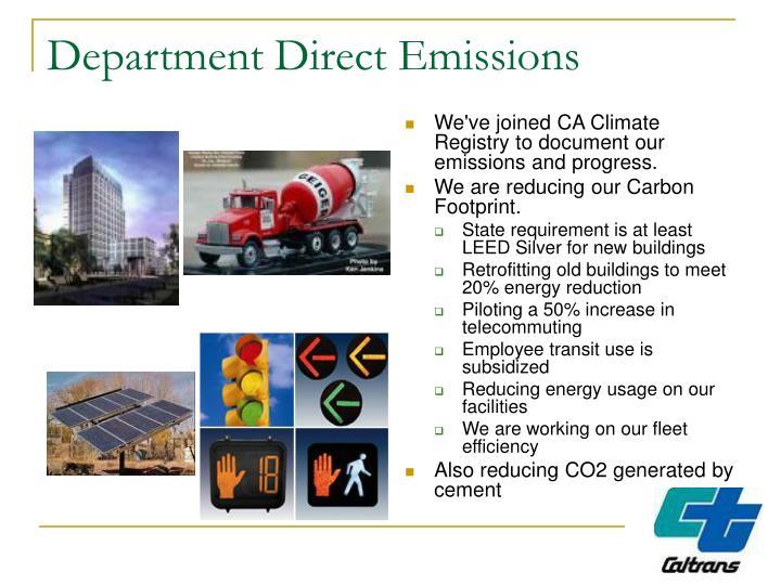 Department Direct Emissions