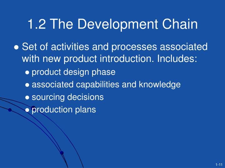 1.2 The Development Chain