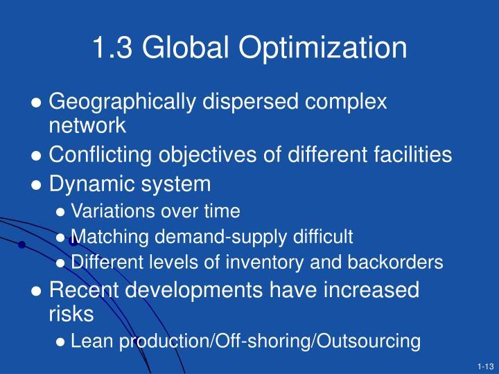 1.3 Global Optimization