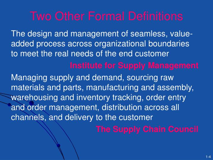 Two Other Formal Definitions