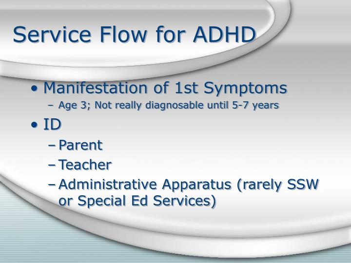 Service Flow for ADHD