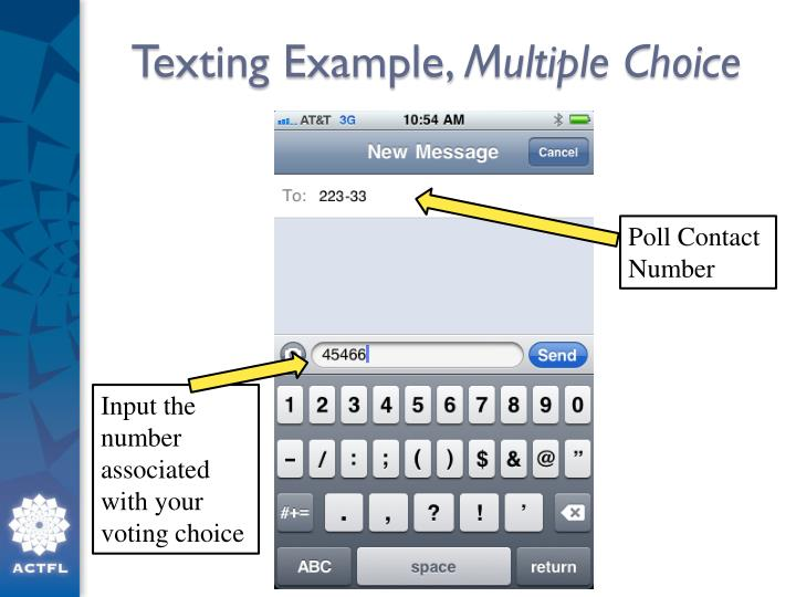 Texting Example,
