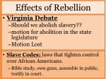 effects of rebellion