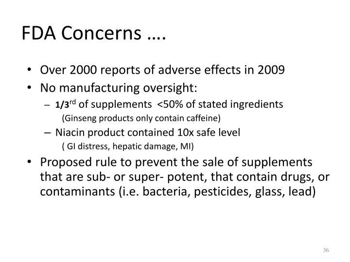 FDA Concerns ….