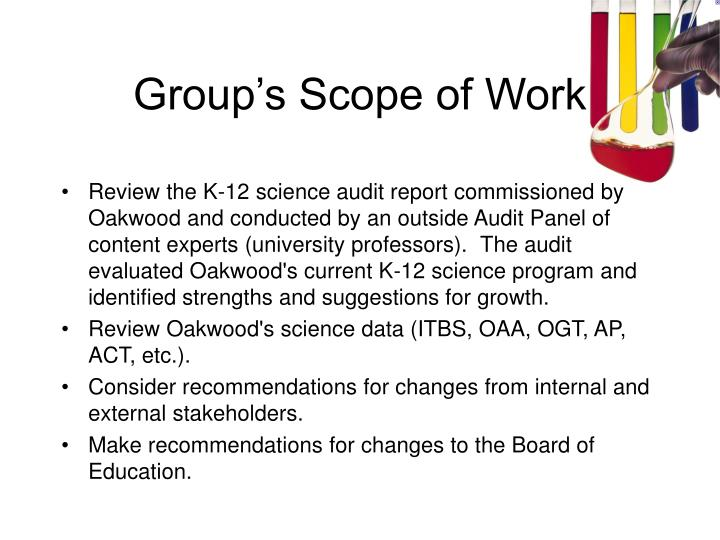 Group's Scope of Work
