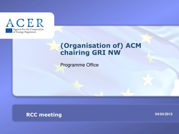 organisation of acm chairing gri nw n.