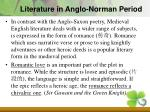 literature in anglo norman period