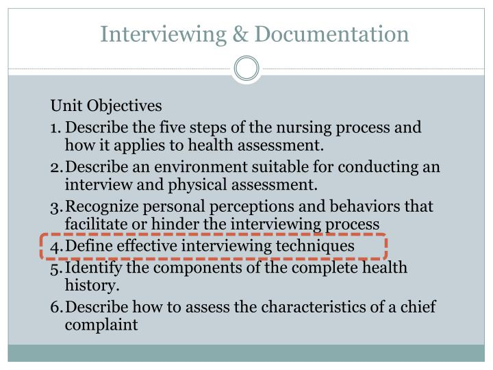 Interviewing documentation1