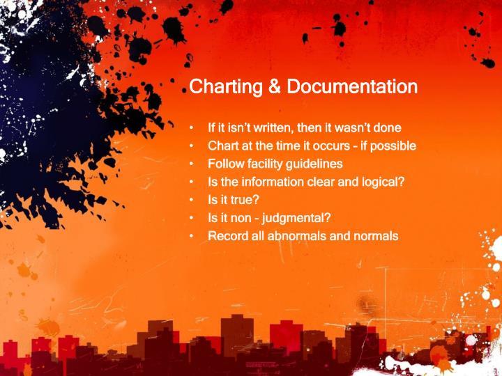 Charting & Documentation
