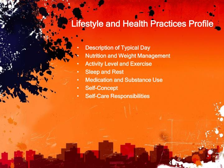 Lifestyle and Health Practices Profile
