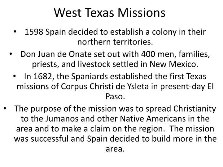 west texas missions n.