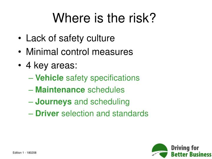 Where is the risk?