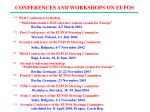 conferences and workshops on eupos