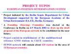 project eupos european position determination system