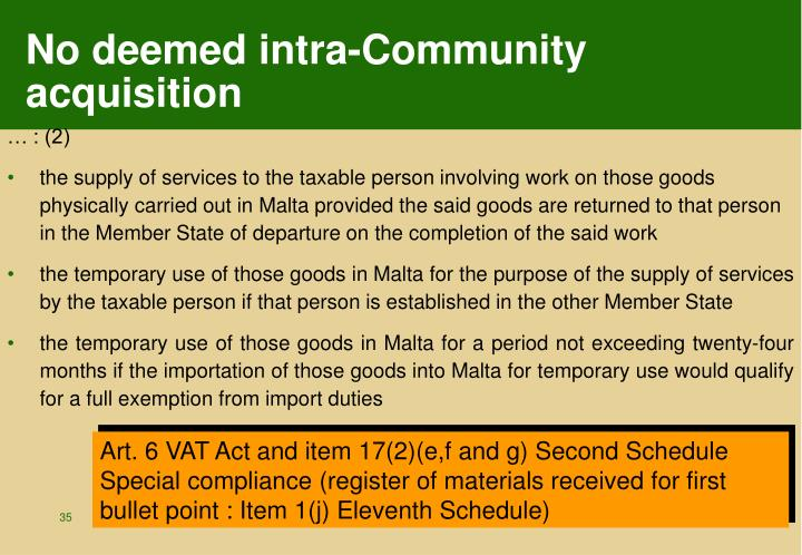 No deemed intra-Community acquisition