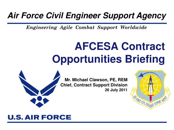 afcesa contract opportunities briefing n.