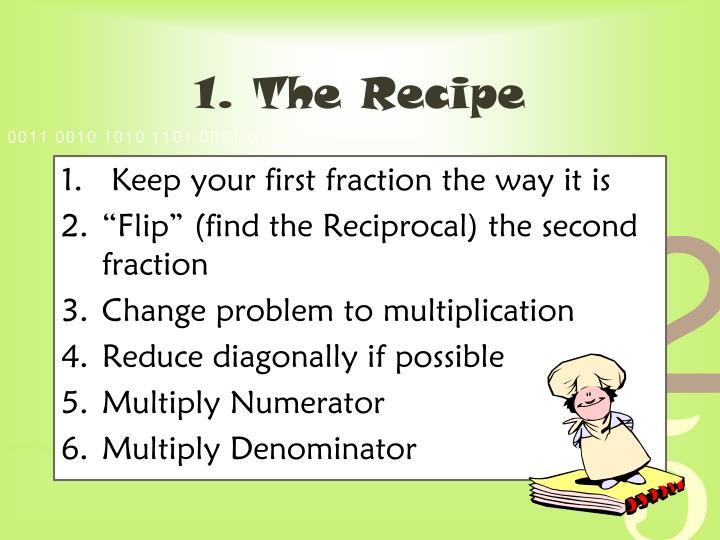 1. The Recipe