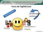 focus de l agilit lean