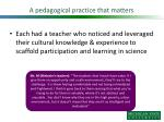 a pedagogical practice that matters