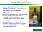 emergent patterns in practice