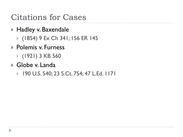Citations for Cases