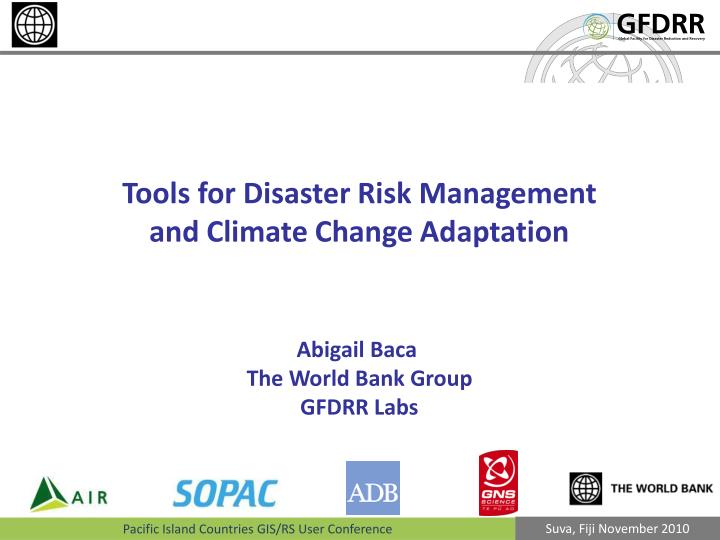 Tools for Disaster Risk
