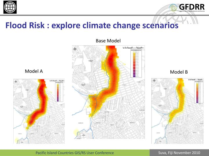 Flood Risk : explore climate change scenarios