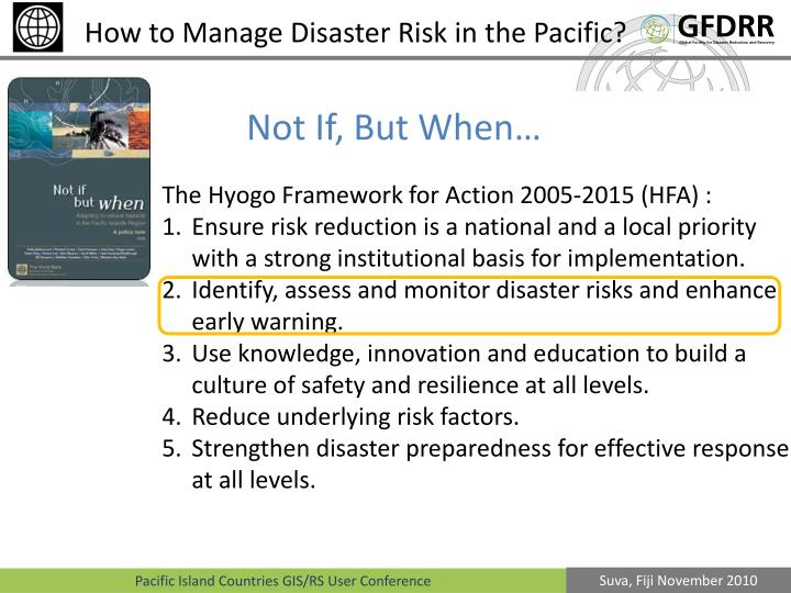 How to Manage Disaster Risk in the Pacific?