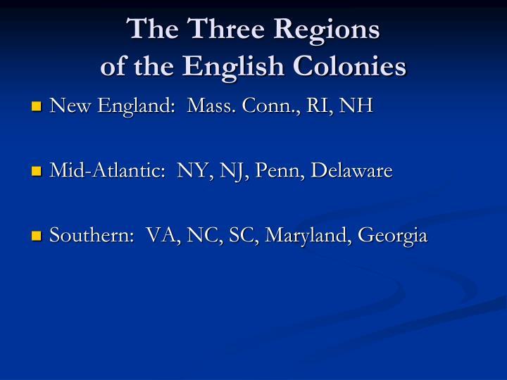The Three Regions