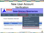 new user account verification