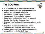 the coc role