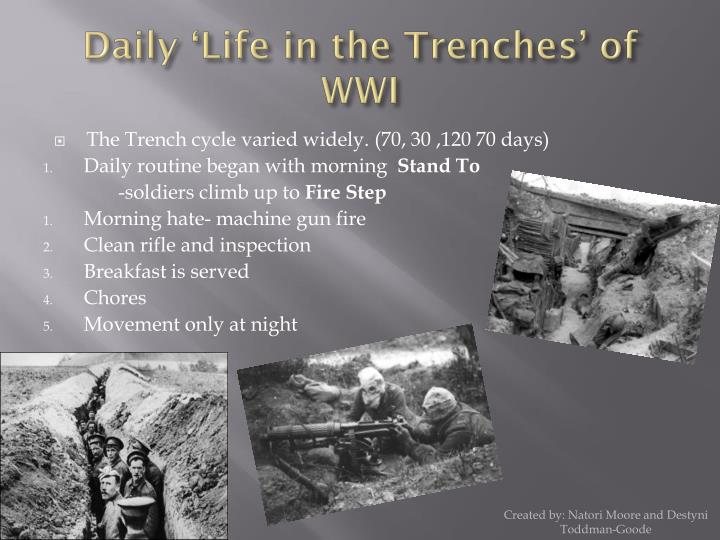 daily life in the trenches of wwi n.