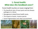 1 forest health what does this handbook cover